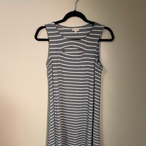 Hem and Threads grey stripe dress size S